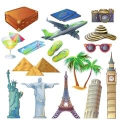 Travel Sights Set vector image