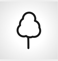 Tree line icon linear outline icon vector