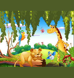 wild animal in the nature vector image