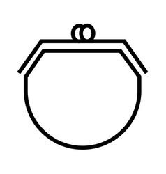 women wallet icon vector image