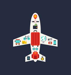 world travel concept flat icon design elements vector image