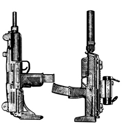 combat weapons 2 vector image vector image