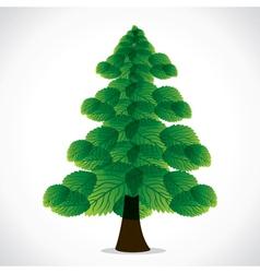 green leaf christmas tree vector image vector image