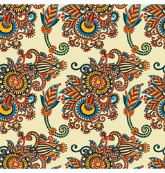 seamless flower paisley vector image vector image