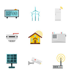 Smart home devices icon set flat style vector