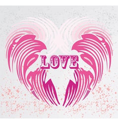 vintage heart shape background vector image vector image