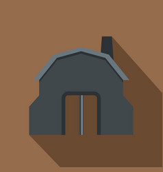 blacksmith workshop building icon flat style vector image vector image