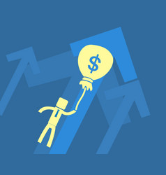 business success concept businessman flies on a vector image vector image
