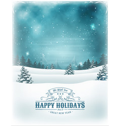 christmas holidays and new year background vector image vector image