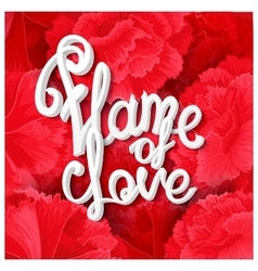 Flame of love vector