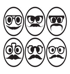 Hipster smiley set2 resize vector