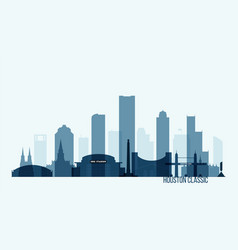 houston skyline buildings vector image vector image