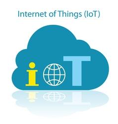 Iot cloud icon vector