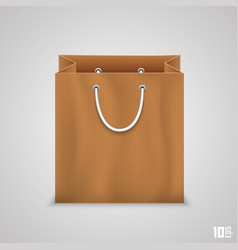 paper bag for shopping vector image