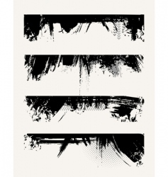 set of grunge edges vector image vector image