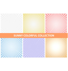 sunny backgrounds colorful collection vector image