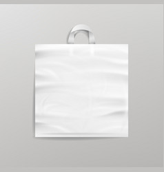white empty reusable plastic shopping bag with vector image