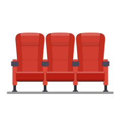 auditorium and seats in a movie theater vector image vector image