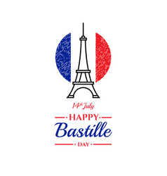 happy bastille day 14th july french holiday vector image