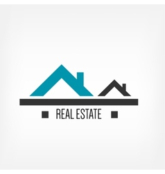 Real estate design template vector image vector image