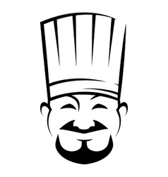 Smiling chinese chef with a goatee beard vector image vector image
