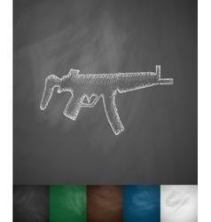 Tommy-gun icon vector