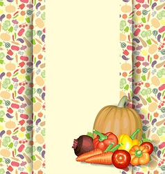 vegetarian diet vector image vector image