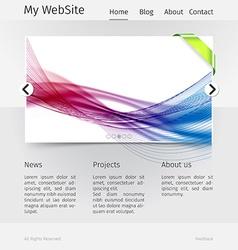 Website design template - grayscale version vector image vector image