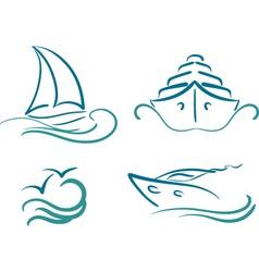 yachting symbols vector image