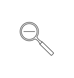 zoom out icon vector image