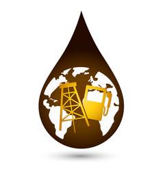 a drop of oil vector image