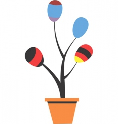 balloon plant vector image
