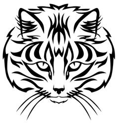 Cat muzzle black vector