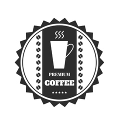 Coffee emblem badge logo label isolated on vector image vector image