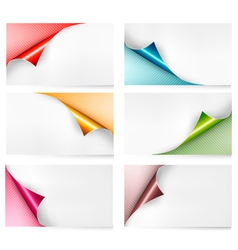 Collection of colorful cardboard paper banners vector image vector image