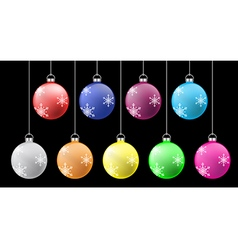 colorful crismass ball set vector image vector image