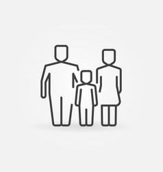 family outline icon vector image