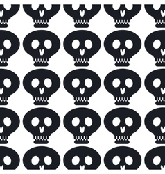 skull pattern background icon vector image vector image