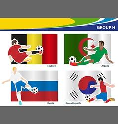 Soccer football players Brazil 2014 group H vector image