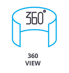 360 view thin line icon sign symbol vector image