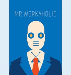 a robot as businessman vector image