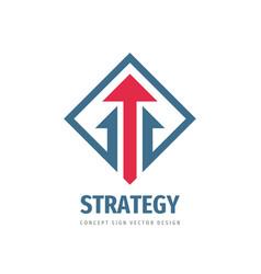 arrow - business logo template design strategy vector image