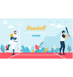 baseball at championship competition sport game vector image