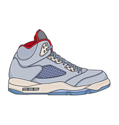 basketball shoes mens simple vector image