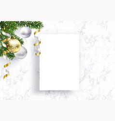 blank christmas sheet paper for congratulations vector image