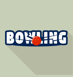 Bowling strike logo flat style vector