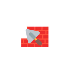 brick laying icon flat element vector image