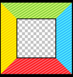 bright blank comic template vector image