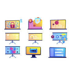 business presentation and data protection vector image