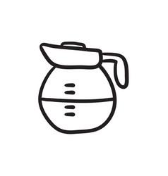 Carafe sketch icon vector